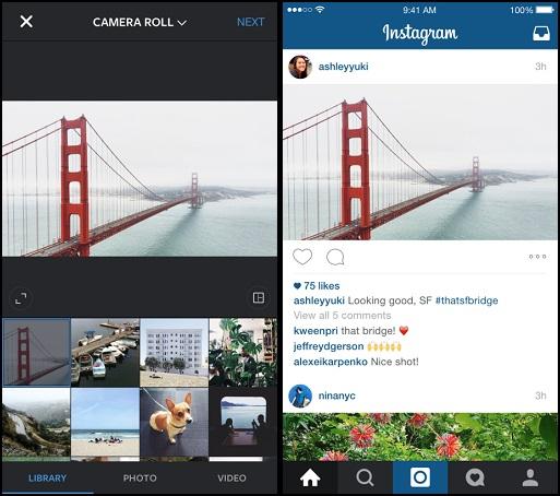 現在 Instagram 不再只有方形照片,也能上傳長方形照片了!