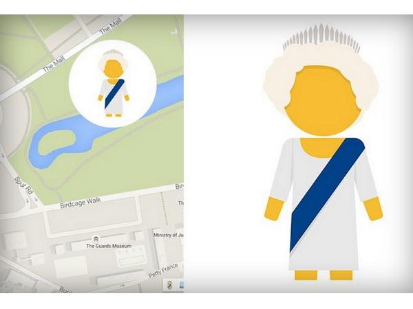 慶祝英女皇破在位最久紀錄,Google地圖推出皇家特仕版