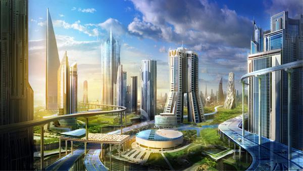展望未來世界,伴隨數位科技演變的都市風情
