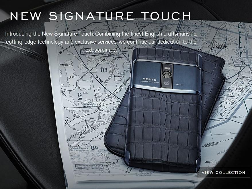 台幣三十萬的手機長這樣,Vertu 推 New Signature Touch 手工手機