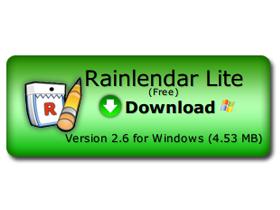 輕巧月曆桌面貼:Rainlendar