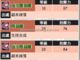 【玄武豪俠傳】【玄武豪俠傳】武防道具大百科-天音防具