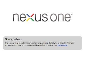 以後網路上買不到Nexus One了