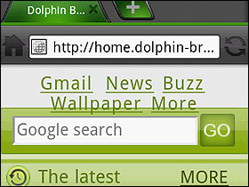 Android瀏覽器新選擇:Dolphin Browser HD