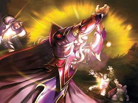 【魔獸世界】【暴雪美術館】卡牌遊戲美術圖:只要女獸人手上有刀誰都動不了她
