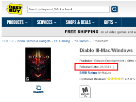 【魔獸世界】店家看板洩密!D3將於2月1日上市?