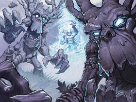 【魔獸世界】【暴雪美術館】卡牌遊戲美術圖:不給澆水就搗蛋…