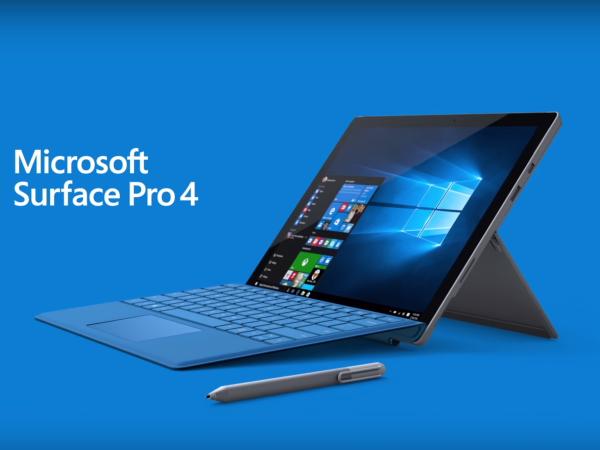 微軟推出更輕薄的 Surface Pro 4,效能將比 MacBook 快上 50%!