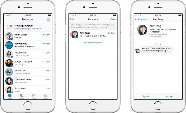 臉書將取消「其他」收件匣,現在任何陌生人都能直接傳訊給你