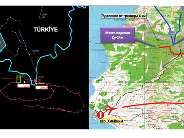 俄軍機遭土耳其擊落,兩國社群媒體用地圖說了完全不同的兩個故事 | T客邦