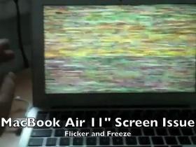 恐怖喔~MacBook Air 螢幕出現靈異現象