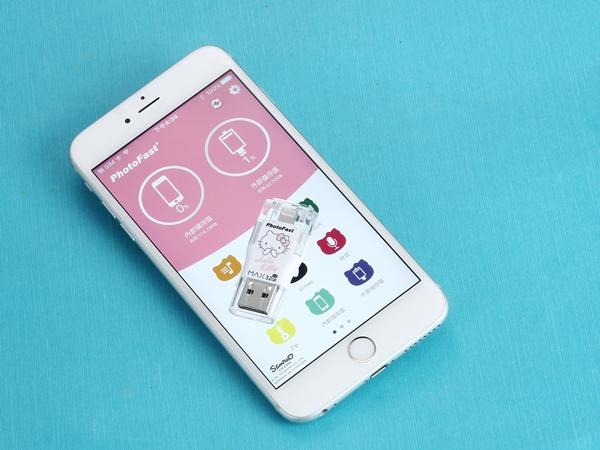 iOS 專用,PhotoFast Hello Kitty 隨身碟動手玩