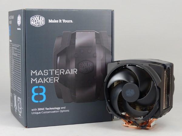 熱導管與均溫板腔體連通 3DVC 科技,Cooler Master MasterAir Maker 8 上機測試