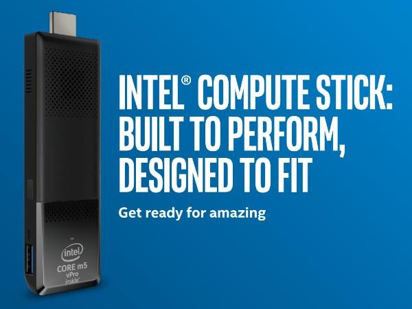 Intel Compute Sticks 改版,搭載 Core m3 與 Core m5 處理器