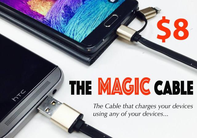1條線凸全世界,跨平台傳輸線Magic Cable還能手機互充