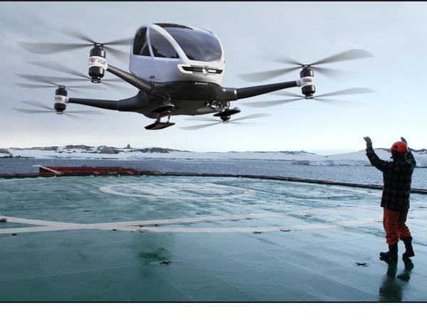 火爆 CES 的億航載人機:億航 184,被批評是用蒙太奇影片手法造飛機