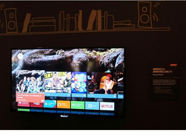 聯發科推電視處理器晶片MT5596,秀出全球首款Android 6.0電視