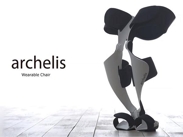 不插電的外骨骼裝:可穿戴式椅子archelis