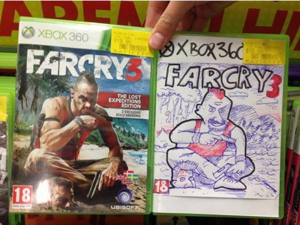 國外的二手遊戲店怎麼處理封面遺失的遊戲光碟?自己動手畫一張!