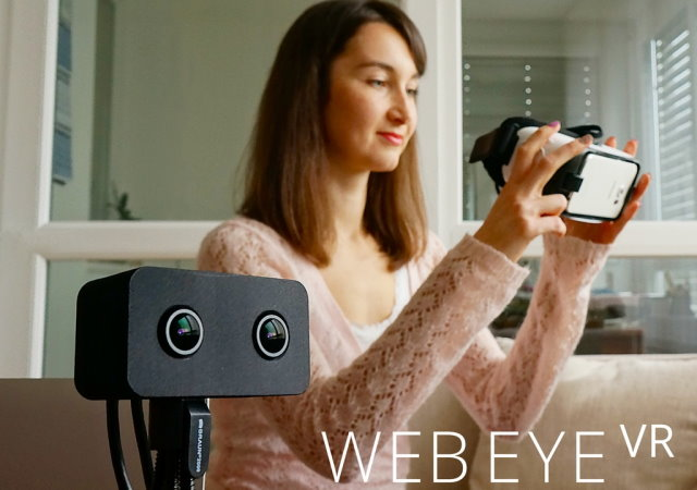 WebEye VR:世上第一款VR Webcam,但是你會想戴上這個和朋友視訊嗎?