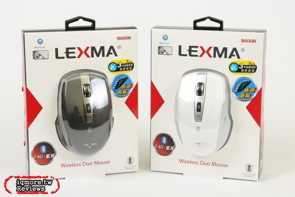 LEXMA B600R 無線藍牙滑鼠,提供 2.4GHz 無線雙模功能