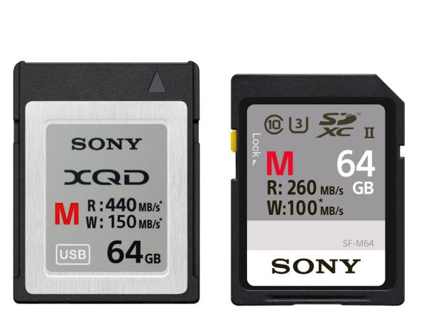 Sony 推出 M 系列 XQD 高速記憶卡以及 SD/XQD 雙用讀卡機 MRW-E90