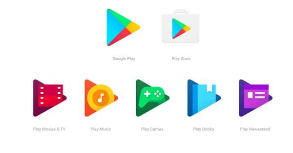 Google發佈全新Google Play家族icon設計,數週內將全面更新