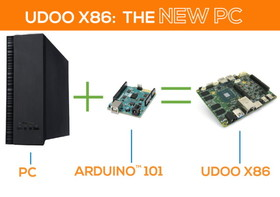 支援Windows10、可輸出3畫面的UDOO X86迷你電腦開發板