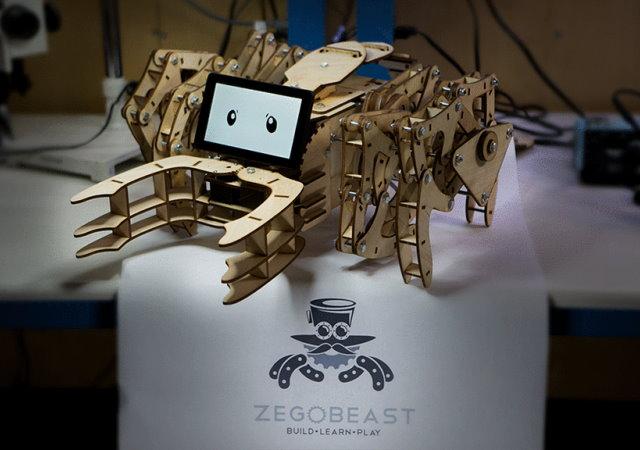 DIY自己做,ZeGoBeast Electric木製步行仿生機器人