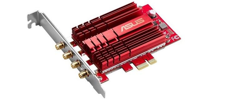 Asus 推出 PCE-AC88 無線網路卡,4 x 4 MU-MIMO 技術帶來 AC3200 的超大頻寬