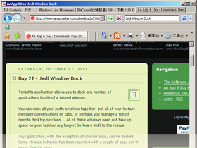 Jedi Window Dock:每一個程式都可以有分頁