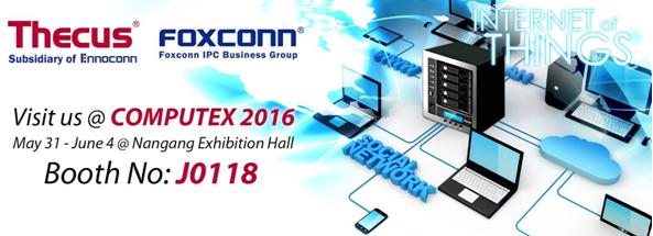 Thecus 將以鴻海集團 樺漢科技工業電腦團隊的一份子於Computex 2016亮相