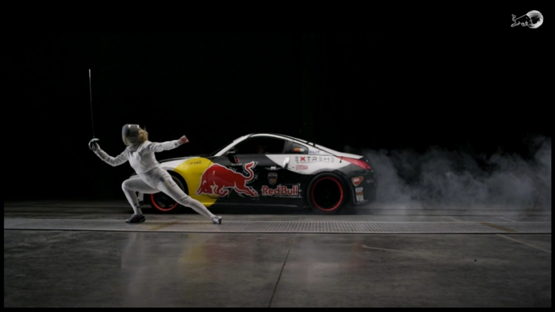 西洋劍對決賽車,誰的第一步啟動較快! 見證人與機器的速度之爭!