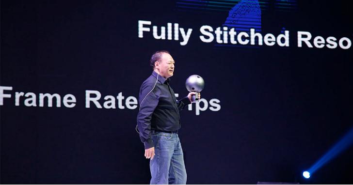 周永明又上台發表了一款新的VR產品,只是這次他代表的不是HTC