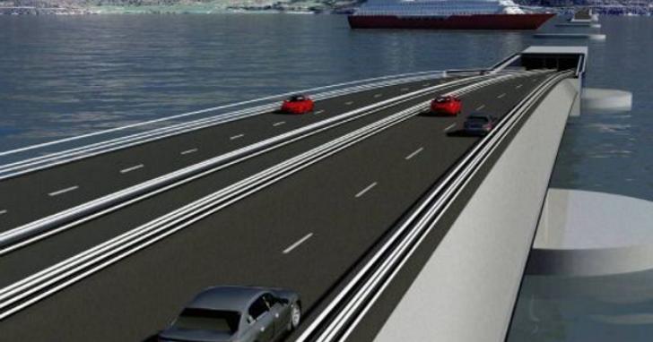 挪威打算這樣設計好讓海底隧道「浮」起來