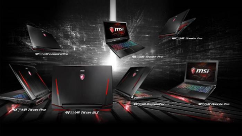 MSI微星科技領先全球推出搭載 NVIDIA GeForce® GTX 10系列獨顯電競筆電