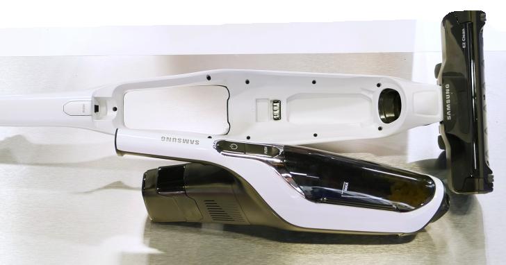 Samsung 的 POWERstick 二合一無線吸塵器,直立、手持都可用