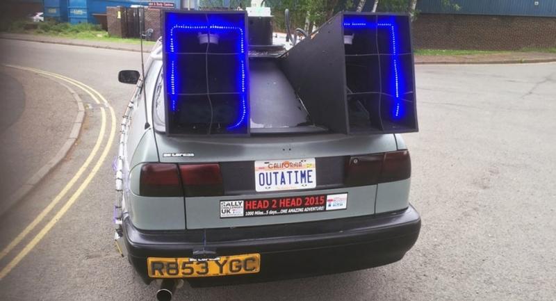 這個粉絲預算僅有台幣4.2萬元,硬是將自己的老車改裝成「回到未來」!