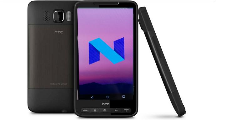 傳奇不死,經典手機 HTC HD2 也裝上了Android 7.0「牛軋糖」