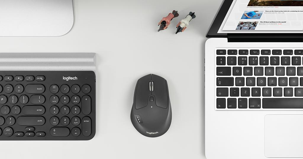 在多個平台間輕鬆切換,羅技M720多工無線滑鼠上市