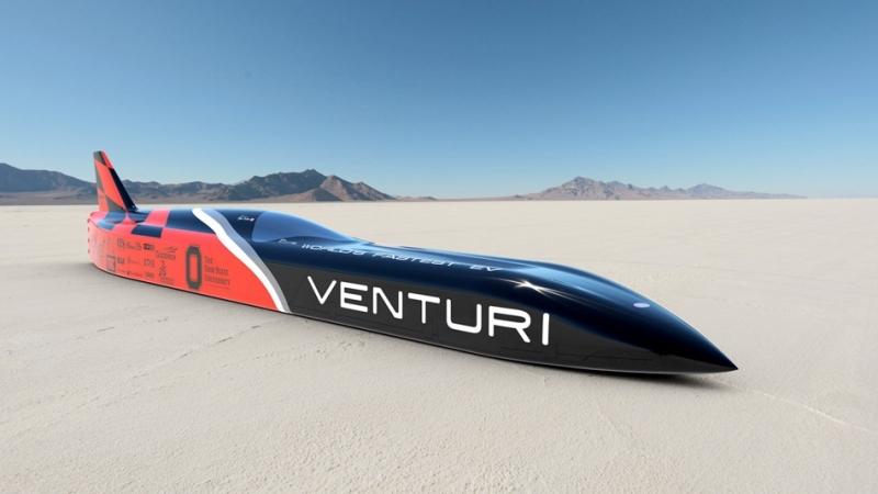 最高時速達 576km/h!史上最速Venturi VBB-3電動車