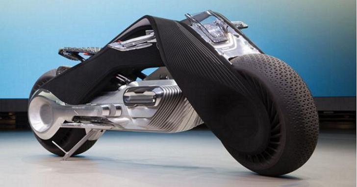 超狂的 BMW 全新概念機車 ,聰明到要讓騎士不用戴安全帽