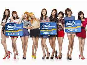 少女時代成為 Intel 亞洲代言人