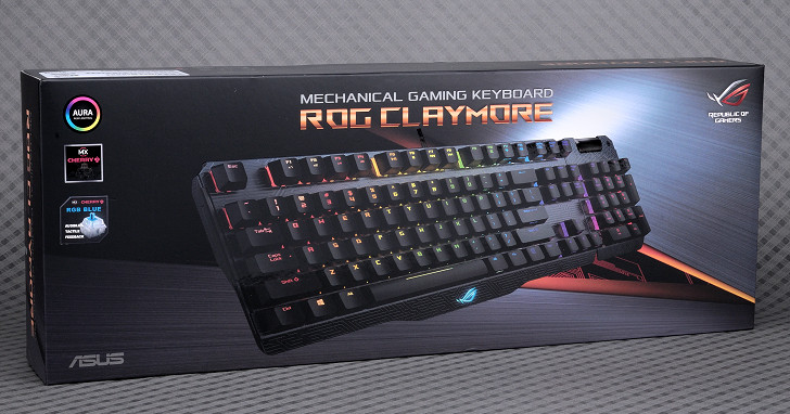 Aura RGB LED、數字鍵可分拆,Asus ROG Claymore 機械式鍵盤試用