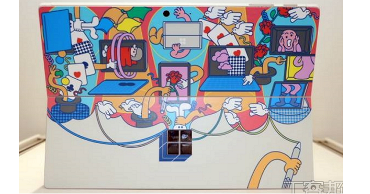 Microsoft Surface 背板變創意畫布,看看國內設計師怎麼改造這個「窗」