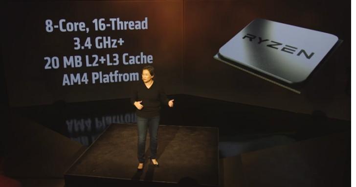 AMD宣布全新處理器AMD Ryzen,準備在桌機市場力拼Intel
