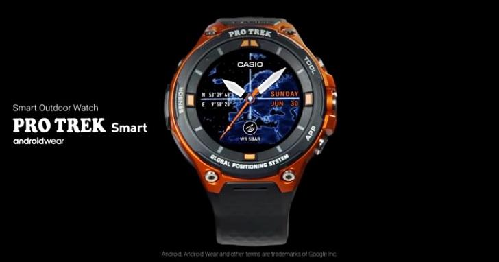 Casio推出 WSD-F20 智慧錶,Android Wear 2.0 系統、把離線地圖裝在手錶中!