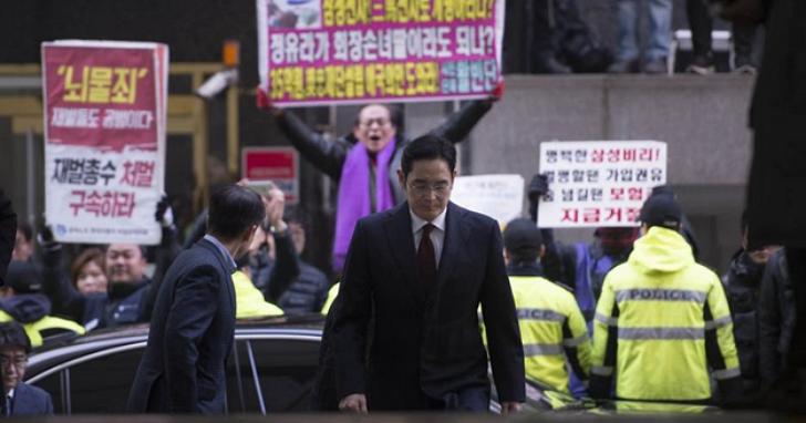 三星危機暫時解除!韓國法院駁回三星副會長李在鎔的逮捕令,韓國檢方表示遺憾