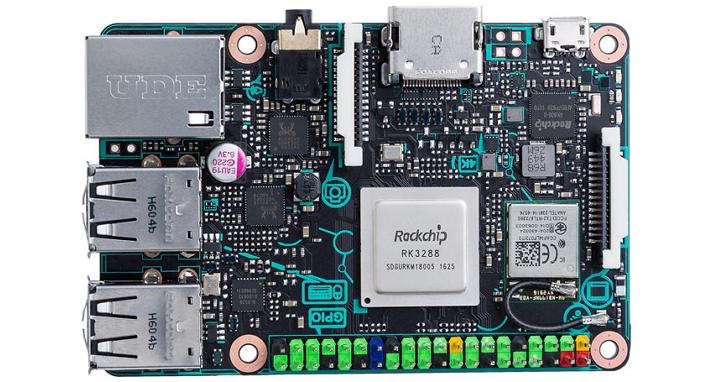 ASUS也推自家版本「樹莓派」Tinker Board,可播放4K影片、記憶體為樹莓派3的兩倍