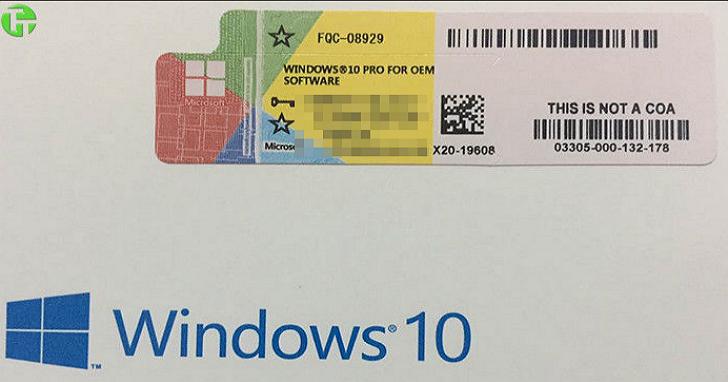 250元可購買正版Windows 10 Pro序號?台灣微軟:若未經微軟授權購買OEM版本已違法